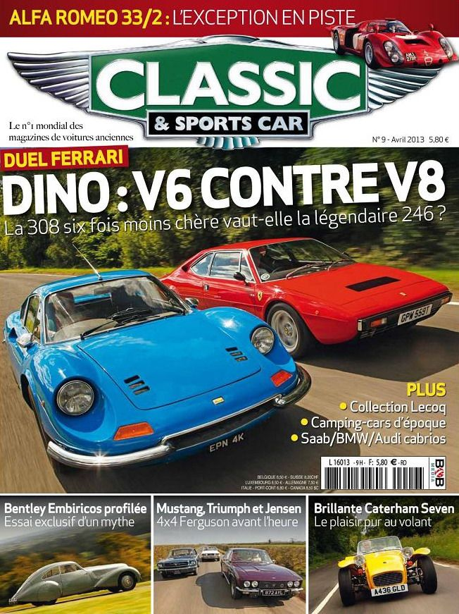 Classic & Sports Car N°9 Avril 2013