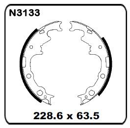 Jeep Cherokee 2WD & 4WD 1990-1993 REAR Drum Brake Shoe SET N3133