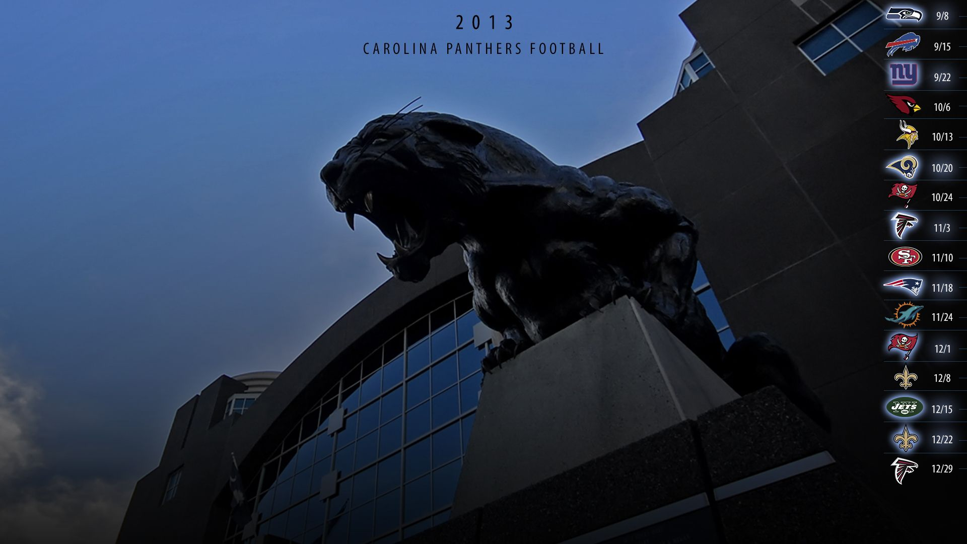 Meows 2013 schedule wallpaper page 3 carolina panthers news and 2fo3g voltagebd Image collections