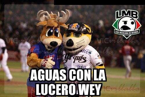 Mascotas del béisbol y Lucero